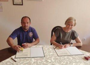 Podpisanie umowy z TS Hejnał w Kętach